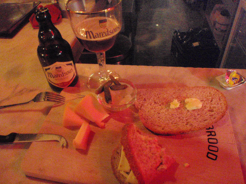 bread and Trappist cheese