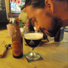 Dana from New York works at Muggs in brooklyn, he rapidly enlightened and in ecstasy as he breathed in his first taste of this '85 Cardinal tripel