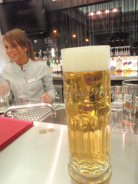 yup a local Pils at the hotel and the cute server who wasn't always very attentive