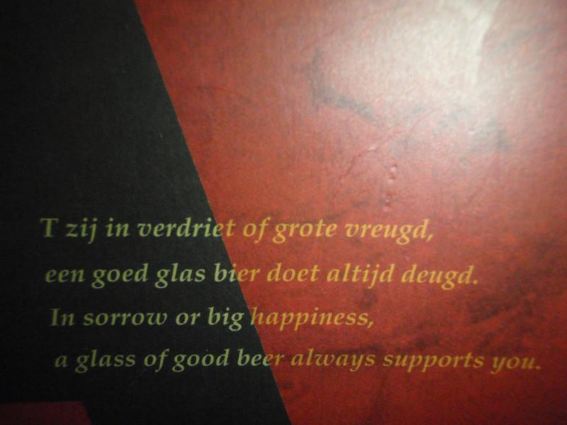 Belgian Bar Tokyo platitudes to live by