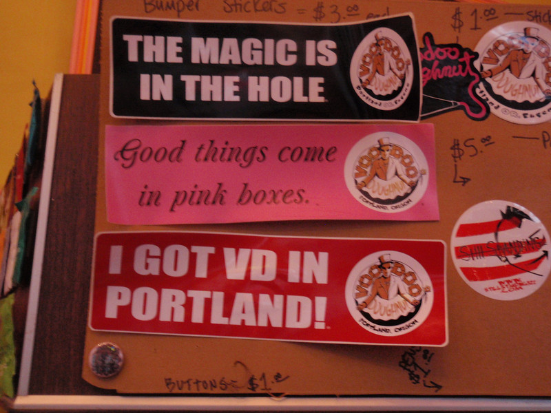 MJ, Voodoo Doughnuts, Portland November 2011<br /> <br /> Bacon Maple Bar mmmmmmm