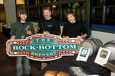 Mitch Dougherty, Eric Sorensen and Thomas Daily of Rock Bottom Brewery at the 2012 CincyBeerfest