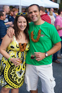 Shannon and Matt Crapo of Finneytown at Cincy Beerfest on Fountain Square Friday