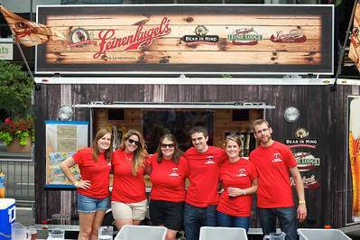 Chelsea, Karen, RIley, John, COlleen and Darryl at Cincy Beerfest on Fountain Square Friday