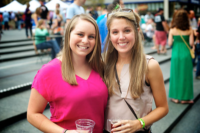 Lindsey Burns and Alex McClanahan at Cincy Beerfest on Fountain Square Friday