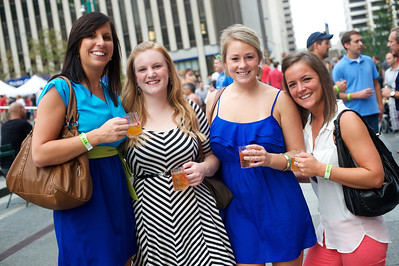 Megan Kroger, Kristen Yawit, Suzie Loucks andChelsy Kokenge of Cincinnati at Cincy Beerfest on Fountain Square Friday