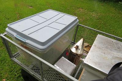 my new setup--a garden cart