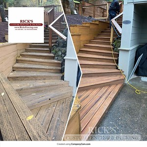 Before & After Armadillo Decking Stairs