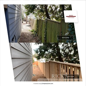 Before and After Good Neighbor Cedar Fence