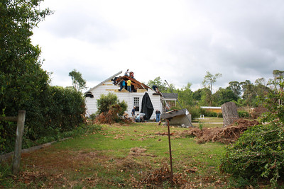 Before: Tornado-damaged home in Spalding County, Ga.