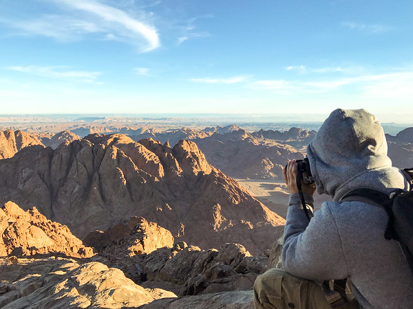 Aaron Northcott Shooting from the Top of Mount Sinai in Egypt