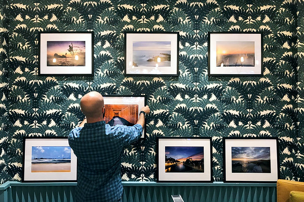Aaron Northcott Hanging Prints in Harris and Hoole Cafe in Colchester