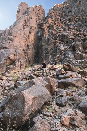 Aaron Northcott Descending the Slopes of Mt Sinai in Egypt