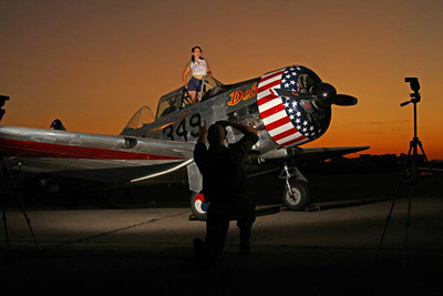 Pin-Up shoot at the American Airpower Museum