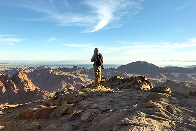 Photographer Aaron Northcott Looking from Mount Sinai Summit
