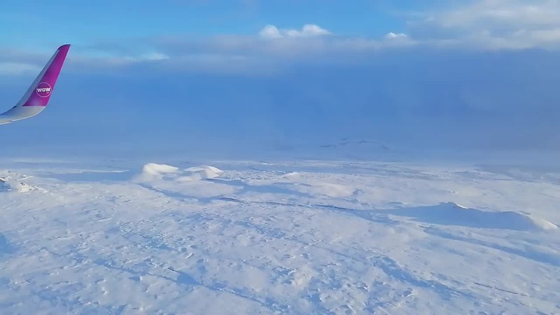 Flying into Iceland