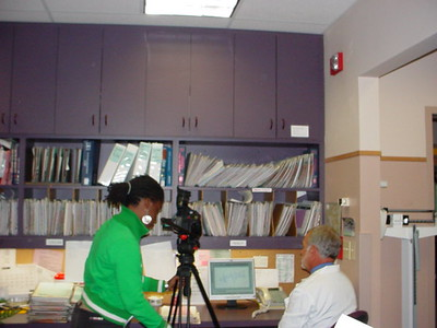 Dr. Bate being filmed!