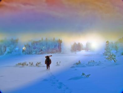 Breaking Trail at Daybreak