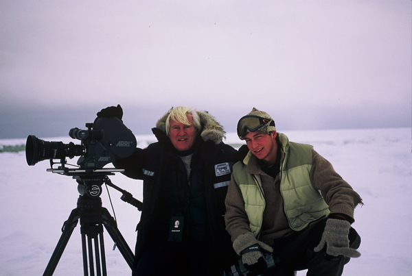 Wolfgang has spent 11 season filming polar bears on the Hudson Bay.  This is Tristan's 5th season assisting his father while filming in Churchill, Canada.