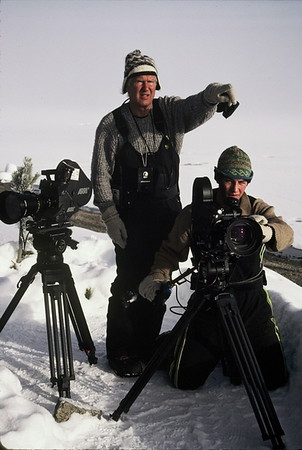 """""""Take One"""" - Filming winter in Yellowstone with father / son team, Wolfgang and Tristan Bayer."""