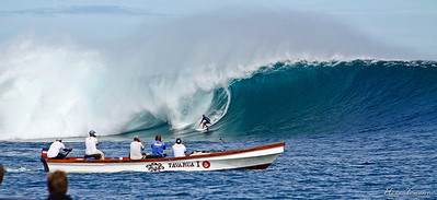 In the water at Cloudbreak.  June 2012. Photo by Hana Tomasevic.