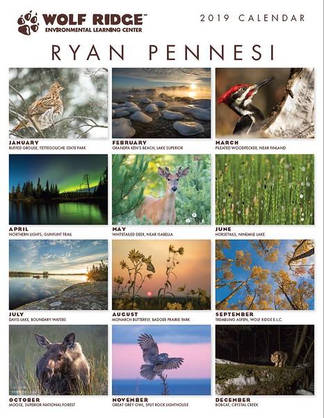 The Wolf Ridge Environmental Learning Center 2019 Calendar