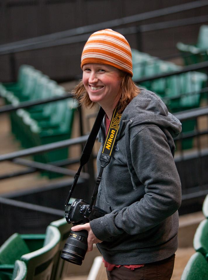 The Oregon Shakespeare Festival. 2010. Jenny Graham about to shoot Henry IV. Photo: T. Charles Erickson.
