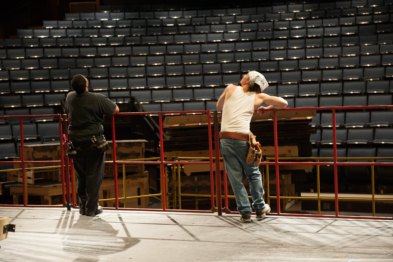 The Oregon Shakespeare Festival. 2011. Stage Operations. Photo: Jenny Graham.