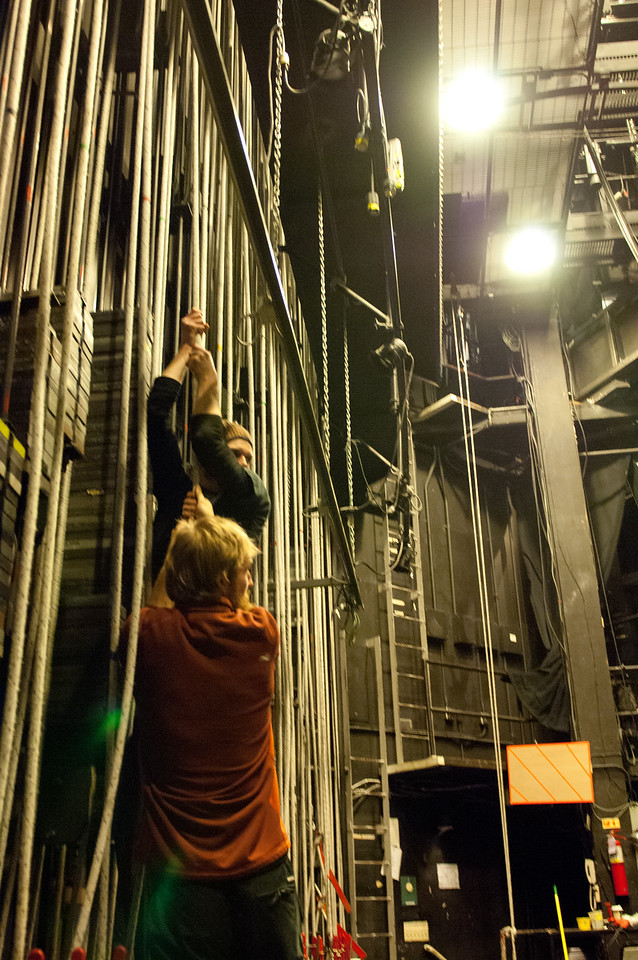 The Oregon Shakespeare Festival. 2011. Behind the scenesl. Photo: Jenny Graham.