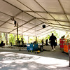 The Oregon Shakespeare Festival. 2011. Construction of the tent in the park continues. Photo: Jenny Graham.