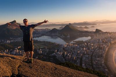 At the top of Rio de Janeiro, Brasil
