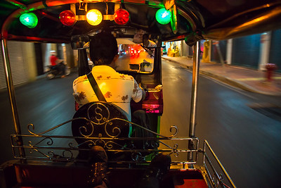 Best way to get around Bangkok is on Tuk Tuk!