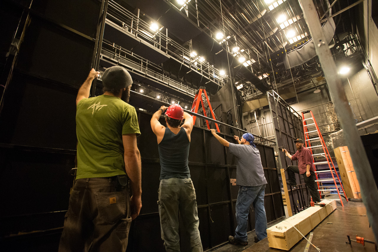 The Oregon Shakespeare Festival. 2015. Guys and Dolls Load in. Photo: Jenny Graham.