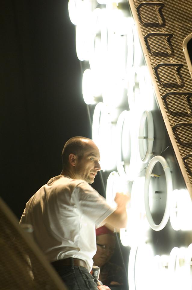 The Oregon Shakespeare Festival. 2008. Various crews getting ready for Midsummer Tech. Photo: Jenny Graham.