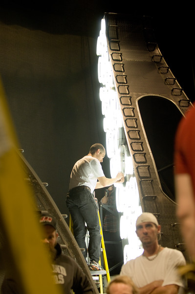 The Oregon Shakespeare Festival. 2008. Various crews getting ready for Midsummer Tech. Photo: Jenny Graham.