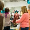 The Oregon Shakespeare Festival. 2014. Costume fitting for K.T. Vogt in Cocoanuts. Costume Designer: Meg Neville. Photo: Jenny Graham.
