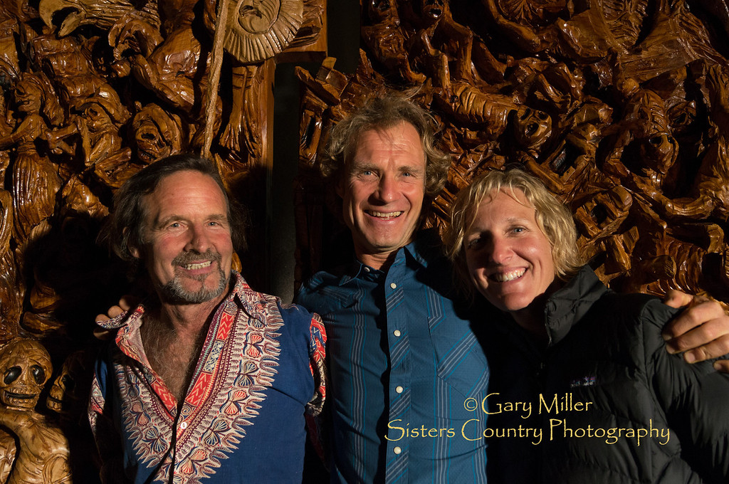 """Image taken at the unveiling celebration for """"The  Rendering of Mayan Creation Epic and Judgment Day"""" - A Mayan Masterpiece in the process of coming to life under the hands of master chainsaw artist J. Chester Armstrong. July 27, 2012 - Gary N. Miller - Sisters Country Photography"""