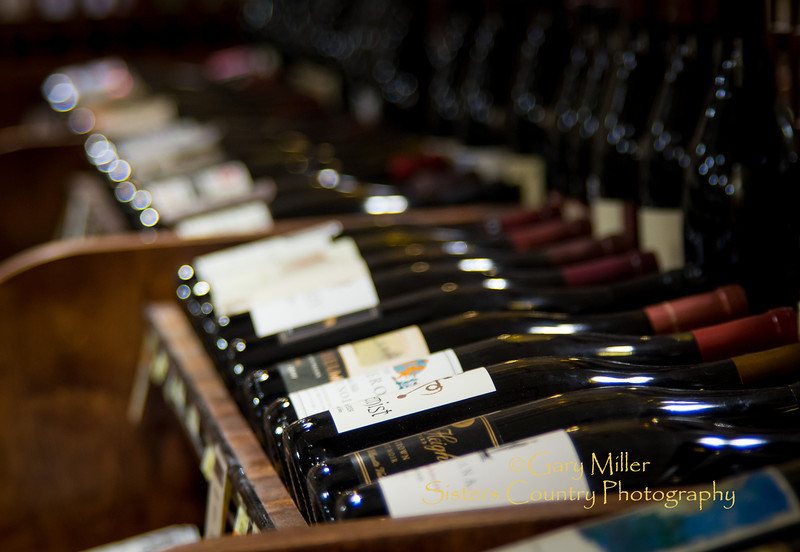 The wine selection at Ray's Food Place's 'Wine Cellar' in Sisters, Oregon features many of the outstanding wines produced in the Northwest and California. Image taken as part of Project Dayshoot+30, #dayshoot30, for the Oregon Historical Society - Copyright © 2013 Gary N. Miller, Sisters Country Photography