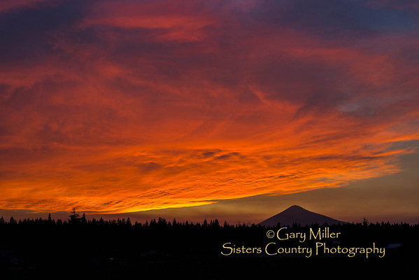 Sunset over Black Butte in Sisters Country - August 7, 2013 - Sisters, Oregon - Copyright © 2013 Gary N. Miller, Sisters Country Photography