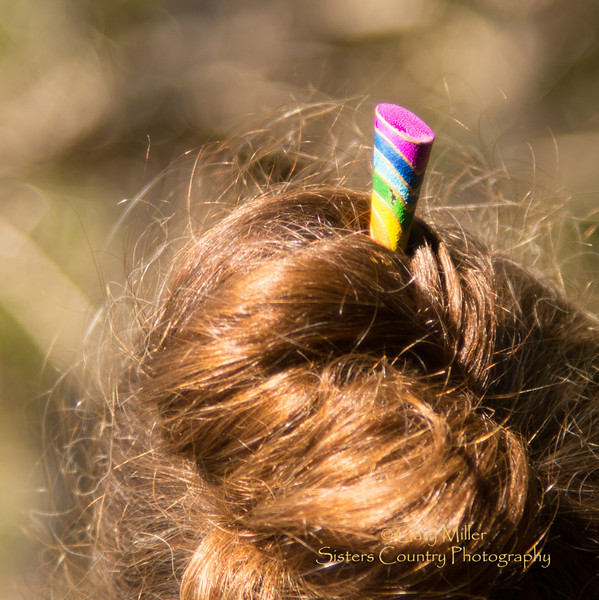 Soft light sets off the colorful peg in Beckie Zimmerman's hair. Images from a sailing holiday to the Canadian Gulf Islands in October of 2012 - Gary N. Miller - Sisters Country Photography