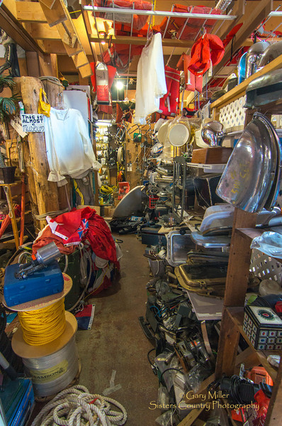 An amazing collection of previously owned marine items packs a second hand chandlery in Sydney, BC. Images from a sailing holiday to the Canadian Gulf Islands in October of 2012 - Gary N. Miller - Sisters Country Photography