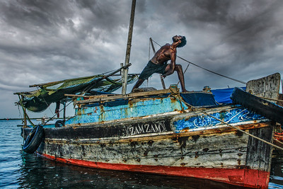 Lamu Island Boatsman Bind ~ The Indian Ocean