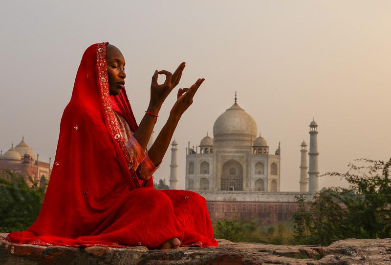 Magical Mudras at the Taj ~ Agra, India