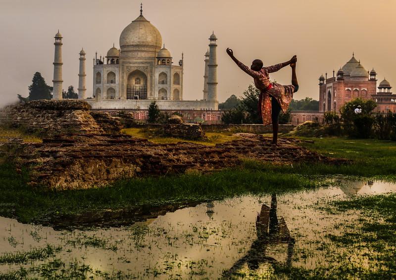 Taj Mahal Natarajasana ~ Agra, India