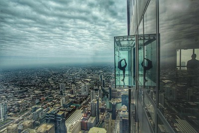 The Chicago Skydeck Ledge