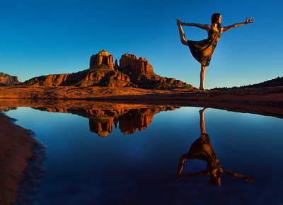Cathedral Rock Natarajasana ~ Sedona, Arizona