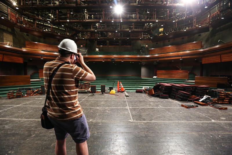 construction photography for Geva Theatre Center