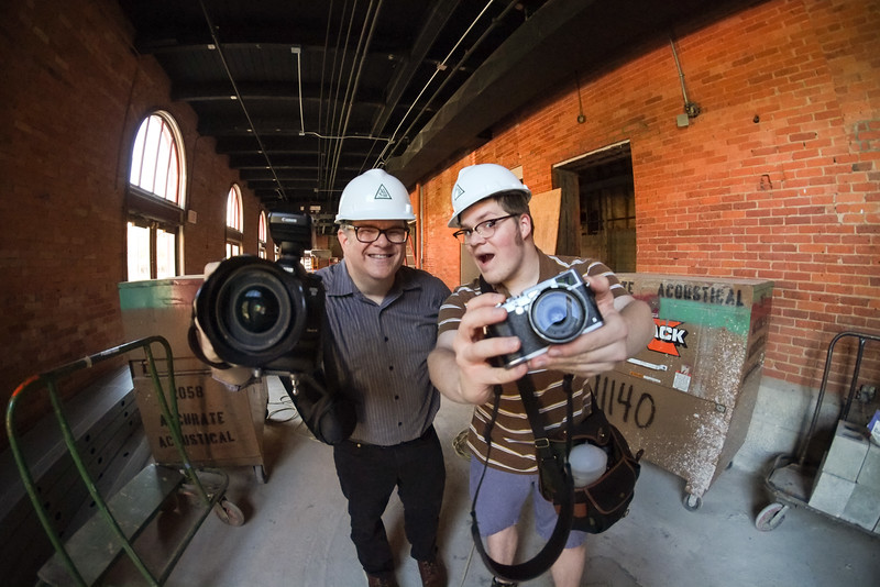 Covering the renovation of Geva Theatre Center