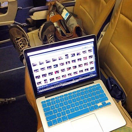 we edit in lots of airports & on plenty of planes