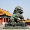 Bronze Lion before Gate of Supreme Harmony